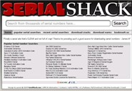 serialshack.com Homepage Screenshot