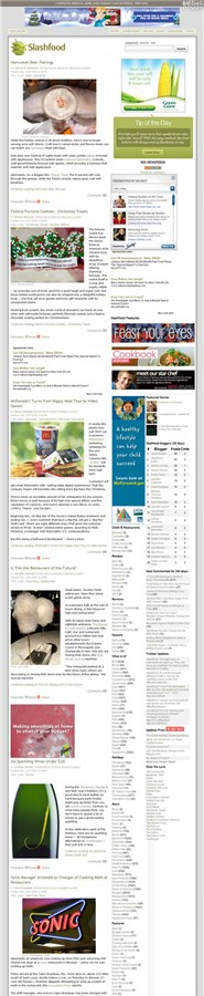 slashfood.com Homepage Screenshot