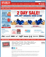 sportsauthority.com Homepage Screenshot