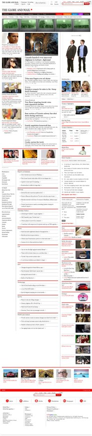 theglobeandmail.com Homepage Screenshot