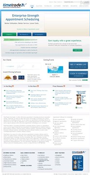 timetrade.com Homepage Screenshot