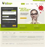 tolingo.de Homepage Screenshot
