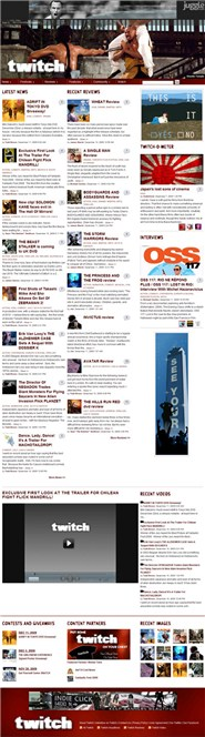 twitchfilm.net Homepage Screenshot
