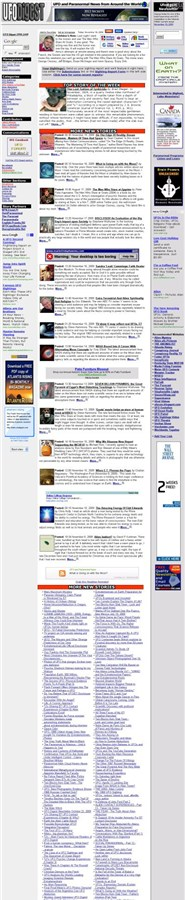 ufodigest.com Homepage Screenshot