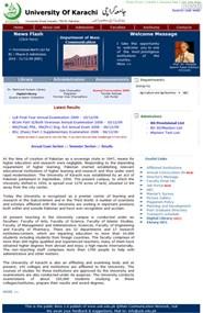 uok.edu.pk Homepage Screenshot