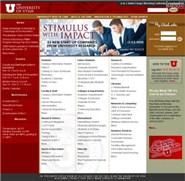 utah.edu Homepage Screenshot