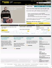 westernunion.co.uk Homepage Screenshot