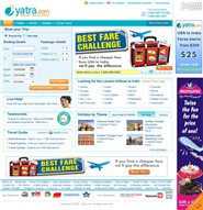 yatra.com Homepage Screenshot