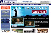 vectorvest.com Homepage Screenshot