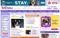 petfinder.com Homepage Screenshot