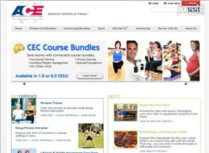 acefitness.org Homepage Screenshot