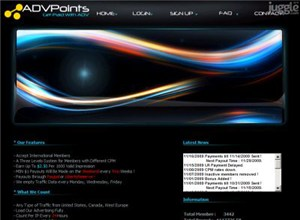 advpoints.com Homepage Screenshot