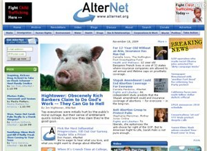 alternet.org Homepage Screenshot