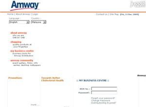 amway2u.com Homepage Screenshot