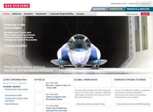 baesystems.com Homepage Screenshot