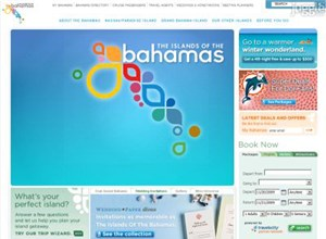 bahamas.com Homepage Screenshot