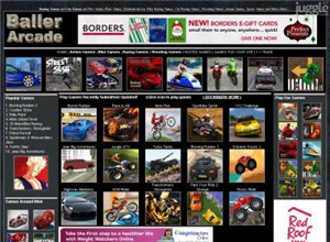 ballerarcade.com Homepage Screenshot