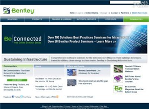 bentley.com Homepage Screenshot
