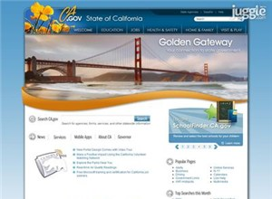 ca.gov Homepage Screenshot