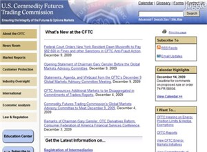 cftc.gov Homepage Screenshot