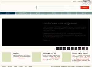 changemakers.com Homepage Screenshot