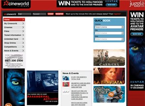 cineworld.co.uk Homepage Screenshot