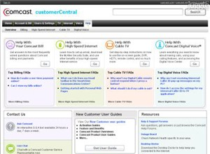 comcastsupport.com Homepage Screenshot