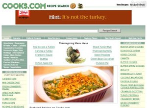cooks.com Homepage Screenshot