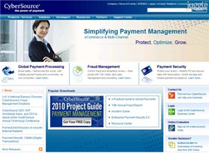 cybersource.com Homepage Screenshot