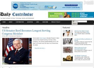 dailycontributor.com Homepage Screenshot