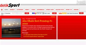 detiksport.com Homepage Screenshot