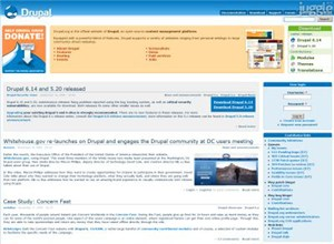drupal.org Homepage Screenshot