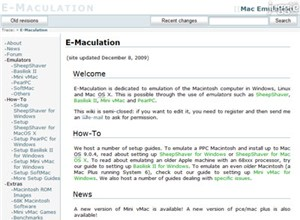 emaculation.com Homepage Screenshot