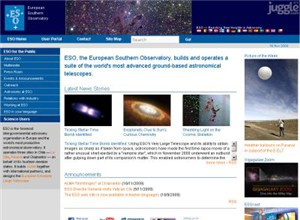 eso.org Homepage Screenshot