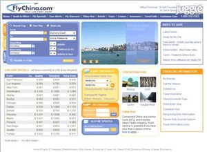 flychina.com Homepage Screenshot