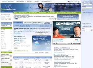 freemeteo.com Homepage Screenshot