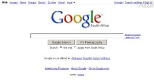 google.co.za Homepage Screenshot