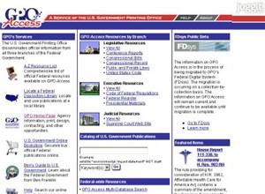 gpoaccess.gov Homepage Screenshot