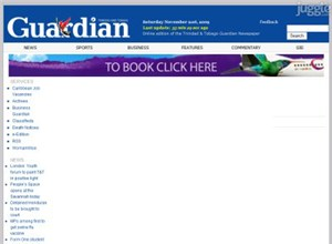 guardian.co.tt Homepage Screenshot
