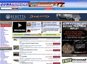 gunsamerica.com Homepage Screenshot