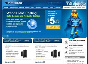 hawkhost.com Homepage Screenshot