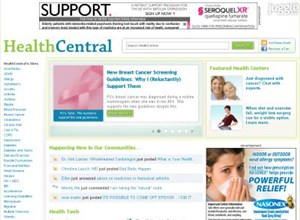 healthcentral.com Homepage Screenshot