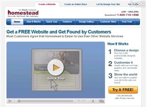 homestead.com Homepage Screenshot