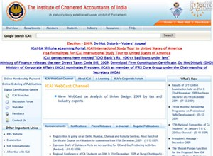 icai.org Homepage Screenshot