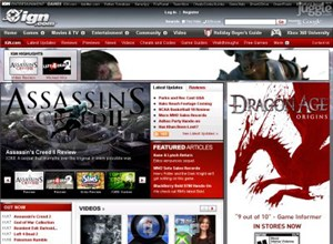 ign.com Homepage Screenshot