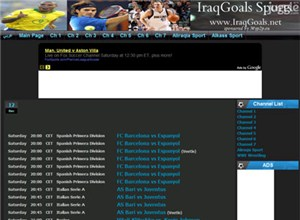 iraqgoals.net Homepage Screenshot