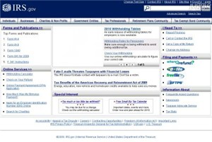 irs.gov Homepage Screenshot