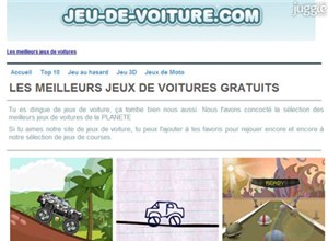 jeu-de-voiture.com Homepage Screenshot