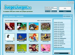 juegosjuegos.ws Homepage Screenshot