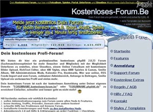kostenloses-forum.be Homepage Screenshot